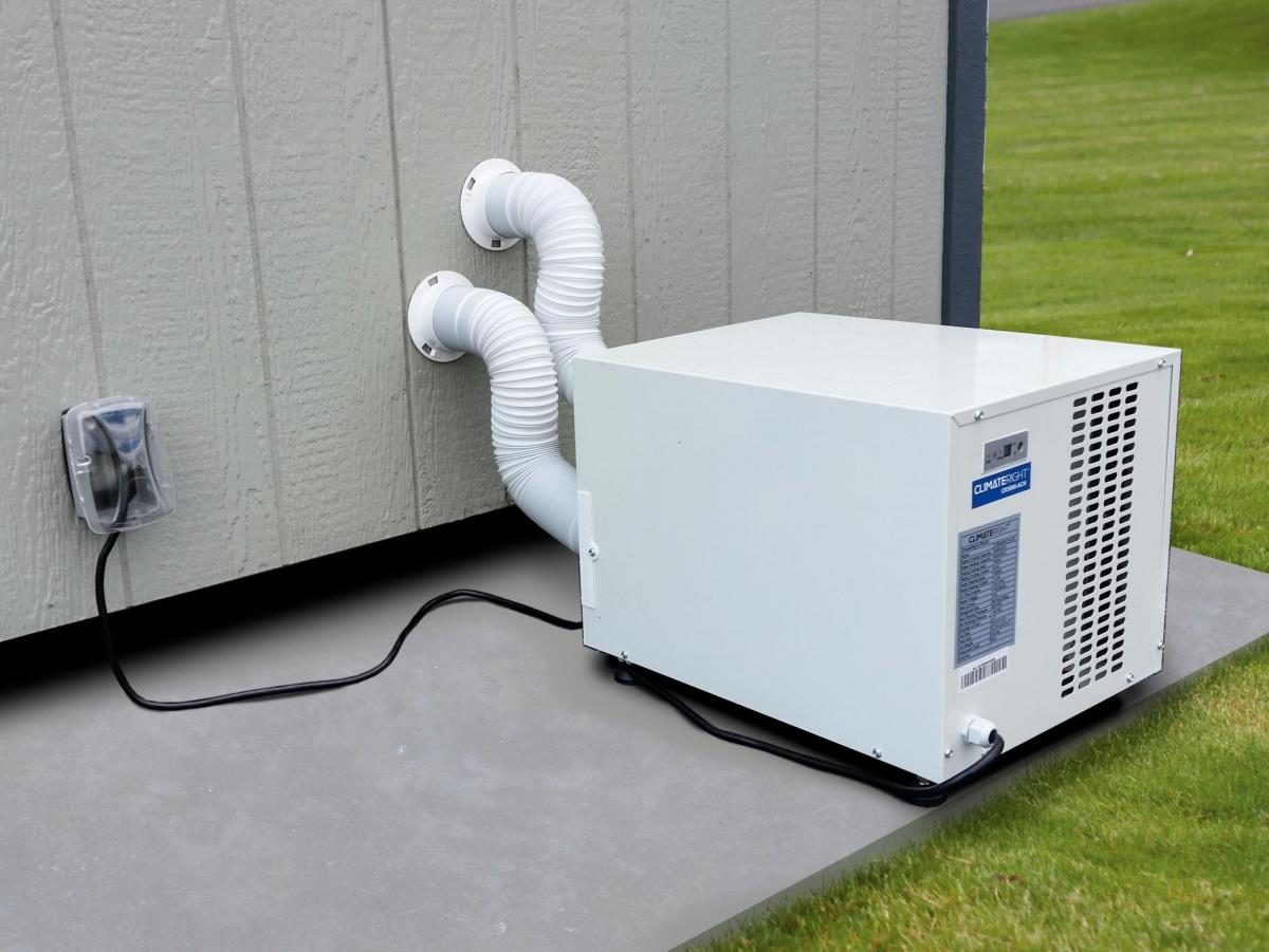 heater ac unit dog kennel options