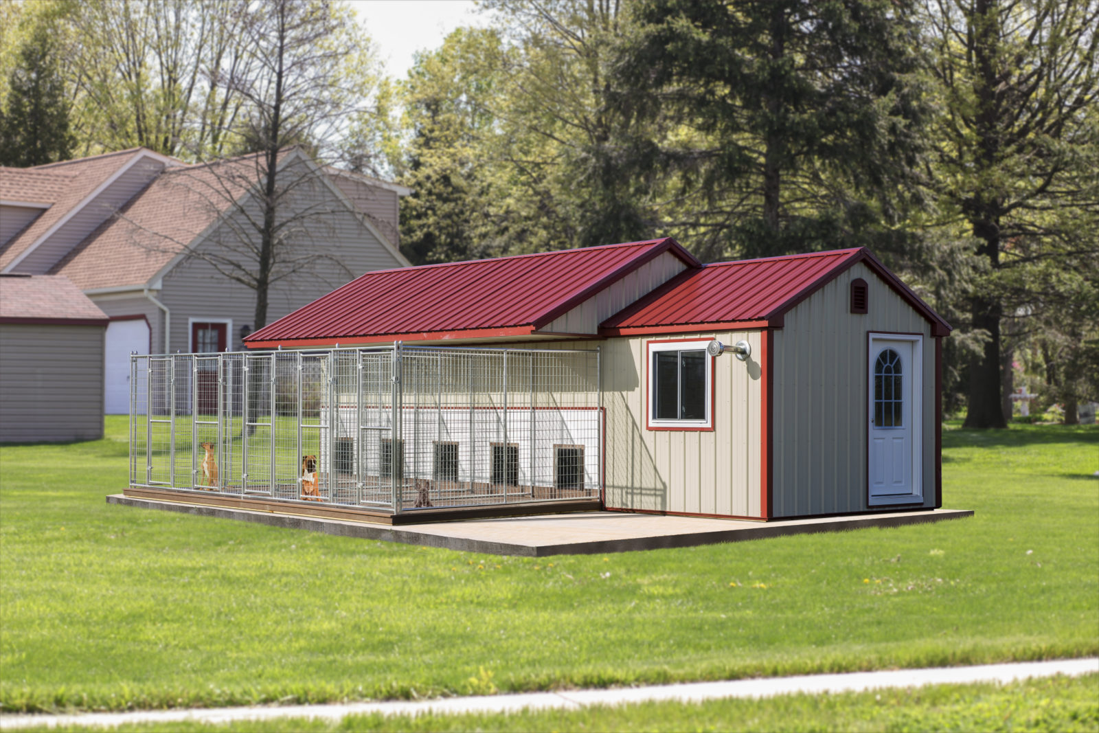 dog kennels for groomers 10x28 traditional 5 box
