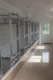 14x32 dog kennel interior