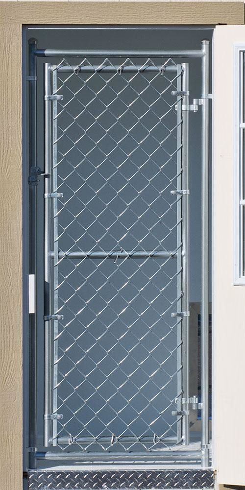Cyclone Fence Door dog kennel option
