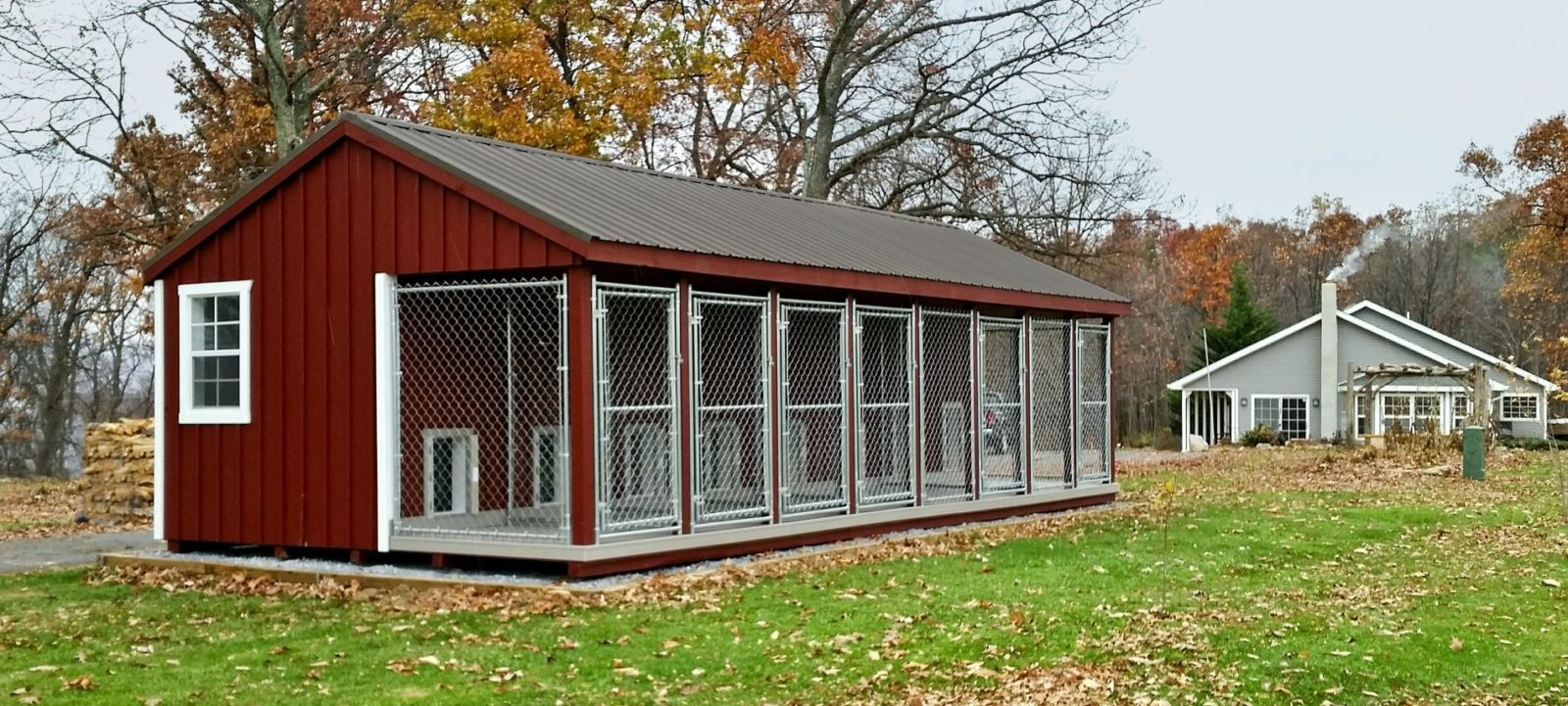 commercial insulated dog kennel house