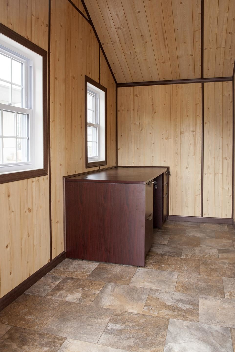 insulated dog kennel interior office