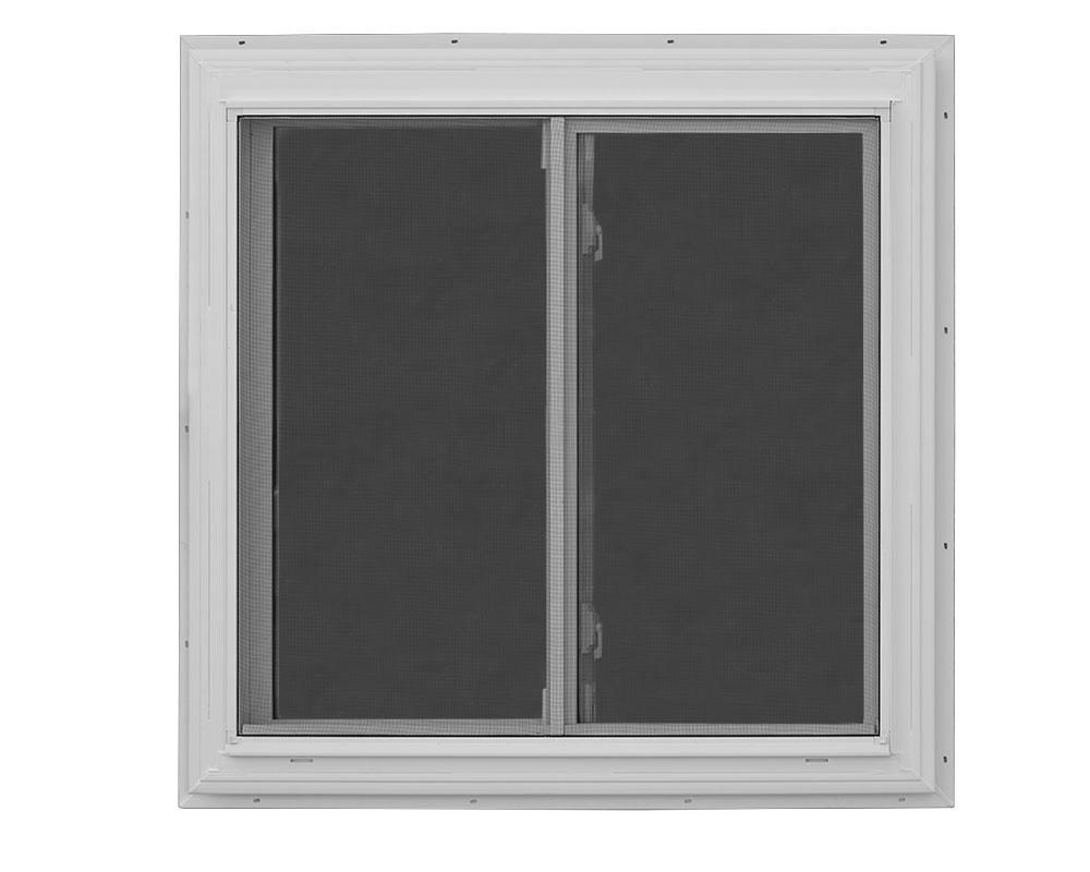 36x36 sliding window with screen dog kennel option