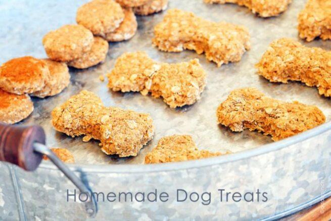 homemade dog treats add a pinch