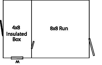 8x12 amish dog kennel floor plan