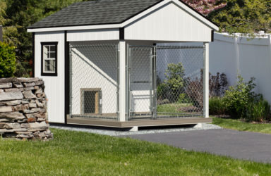 8x10 amish dog kennel white