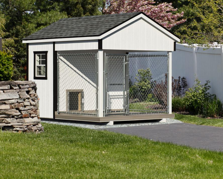 8x10 amish dog kennel white