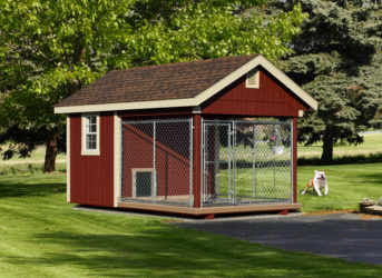 8x12 quality dog kennel red 0