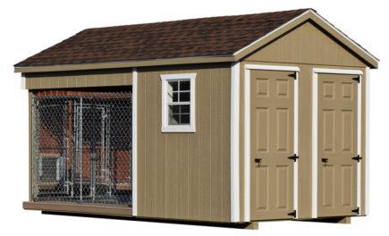 8x14 amish dog kennel buckskin alt