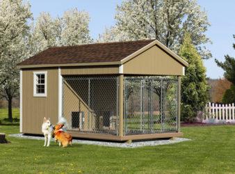 8x14 amish dog kennel buckskin