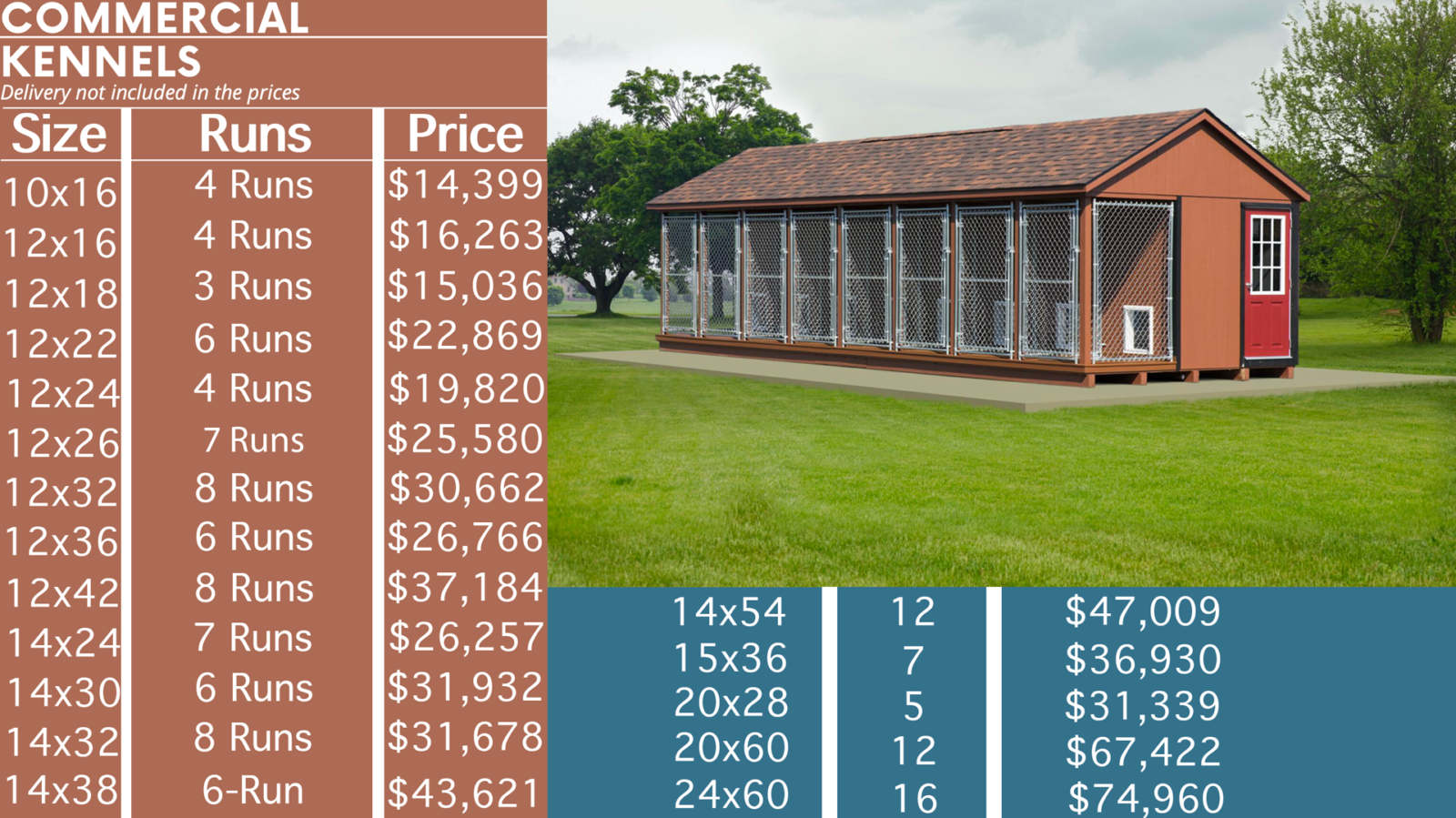 commercial dog kennel prices