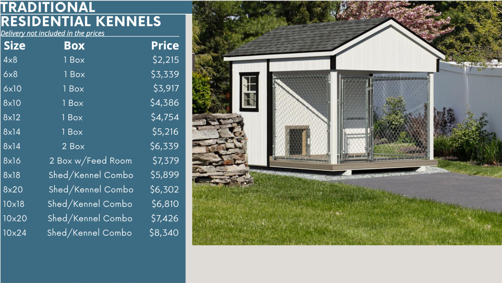 traditional kennel prices