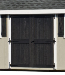 dog kennel shed double doors